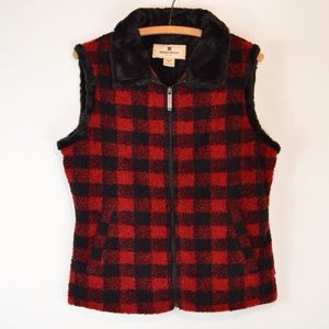 Woolrich Women's Buffalo Plaid Zip Vest | Medium